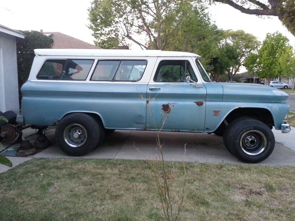 Adopting A Suburban Carryall The Seahorse Page 4 1947 1966 Chevrolet Truck C10 12 Ton Pu 2wd If That Isnt Enough Clearance For Tires Ill Go Ahead Do Lift With Rear Shackle Flip And Front Springs I Already Have